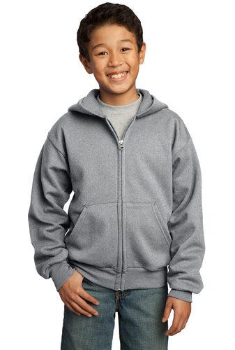 Fleece Full-Zip Hooded Sweatshirt – Youth (PC90YZH)