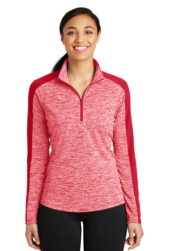 Colorblock 1/4 Zip Pullover – Ladies (LST397)