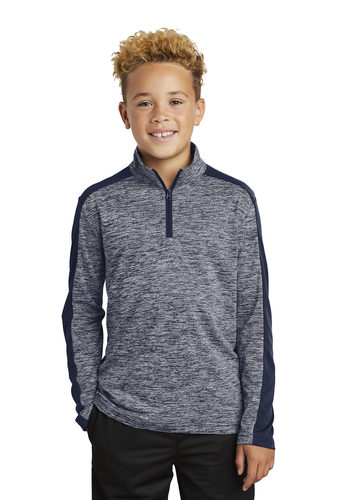 Colorblock 1/4 Zip Pullover – Youth (YST397)